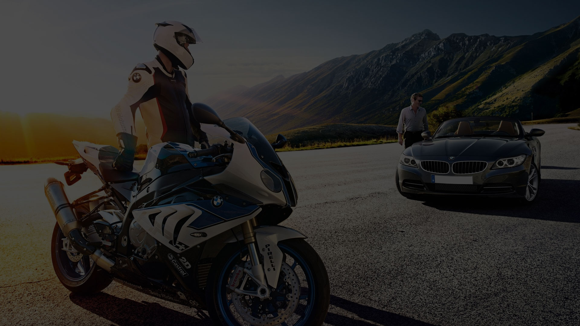 The world of cars and motorbikes
